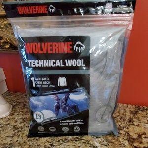 WOLVERINE TECHNICAL WOOL CREW NECK SHIRT 42-44